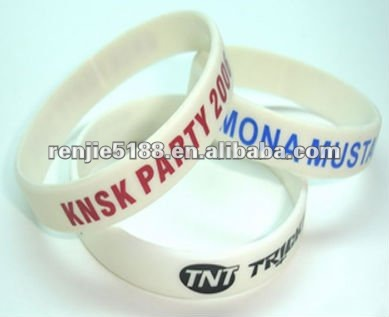 Promotional items interchangeables montre bracelet en silicone