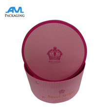 stock color paper hat flower box round tube packaging with logo wholesale