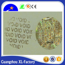 Cheap &Custom anti-counterfeit void 3d hologram stickers Plastic seal strip/Security Laser Hologram Label/ stickers