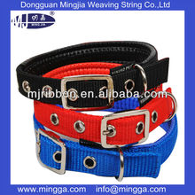 wholesale nylon dog collar with metal hook