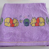 stock cotton luxury terry towel with jacquard border
