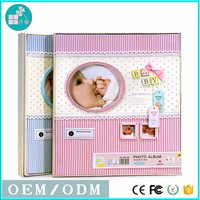 DIY Baby photo album wholesale cloth design 4R 44*6 inch 300 photo album with memo pvc sheet for photo album