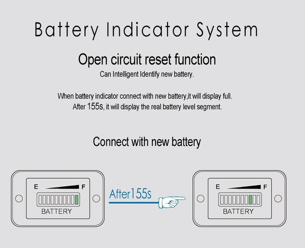 Runleader Led Battery Meter Charge Discharge Indicator Gauge For 36v Wiring Diagram Bi003 815 07