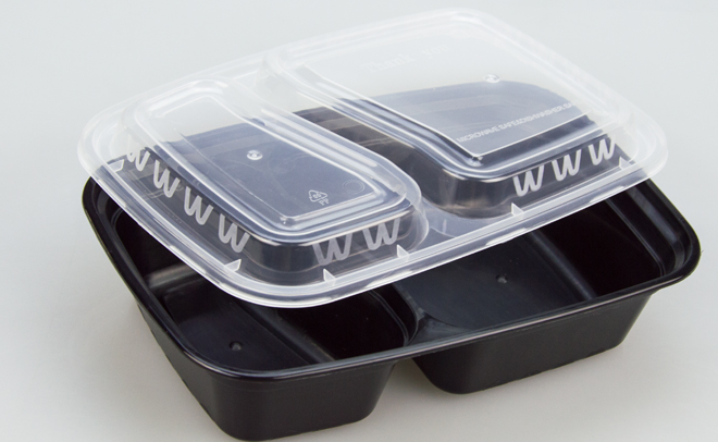 China manufacturer wholesale plastic take away fast food delivery container with lid