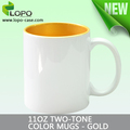 11oz sublimation ceramic two-tone colorful dye sublimation mug