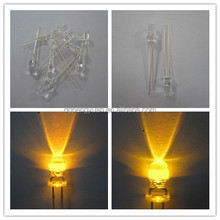 high brightness water clear 5mm yellow led lights led diode