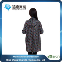 Polyester dots printing,water proof kid pvc raincoats