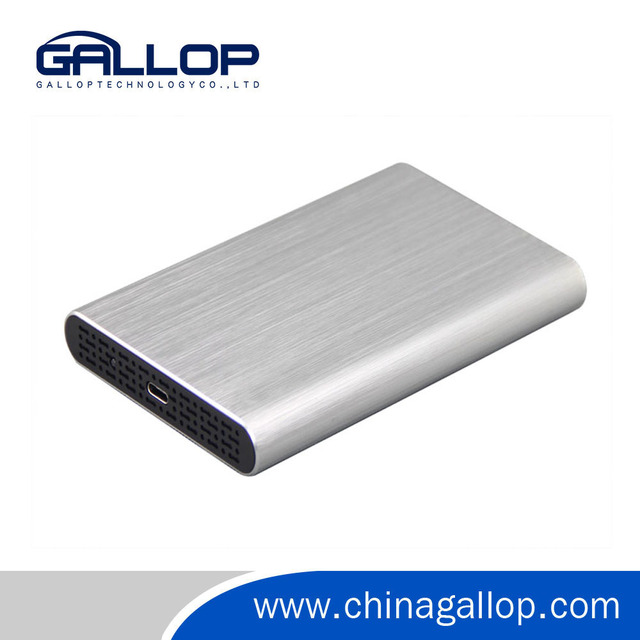 Gallop Aluminum 2.5-inch USB Type C External HDD Hard Drive Disk Enclosure Case with USB C Interface for HDD and SSD