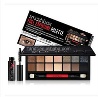 2014 new style fashion lady 14 colors series smoky smashbox makeup palette eyeshadow sexy smash box palette with brush