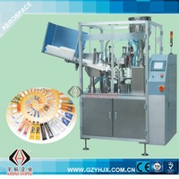Full automatic multiplex plastic- aluminum tube filling sealing machine