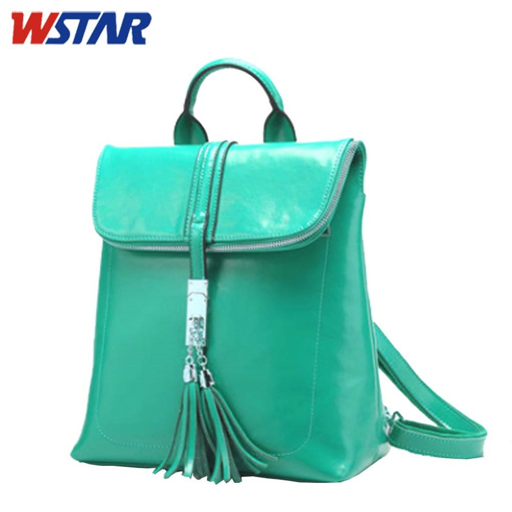 High Quality Branded Pattern Backpack Leather