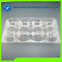 Customized clear transparent blister plastic quail egg packaging storage tray container box