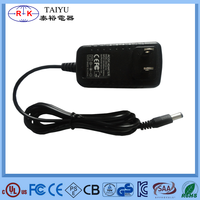 12v 1a wall charger US plug ac dc power adapter