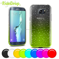Cheap Cover Phone Two Color Soft TPU Raindrops Back Cover Waterdrop Case for samsung galaxy s6 edge plus made in china