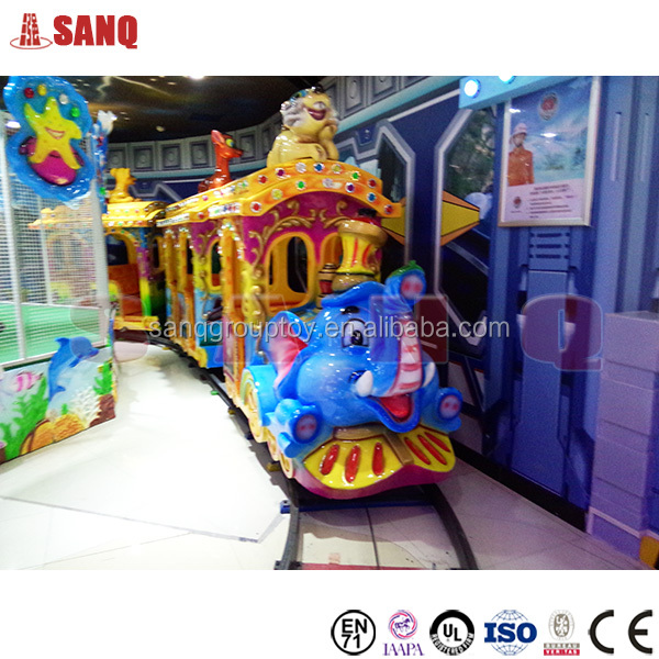 2016 SANQGROUP Kids Game Elephant Trackless Train for Shopping Mall