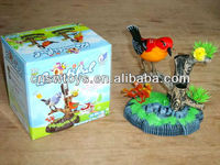 Battery operated sound control singing bird novelty toys