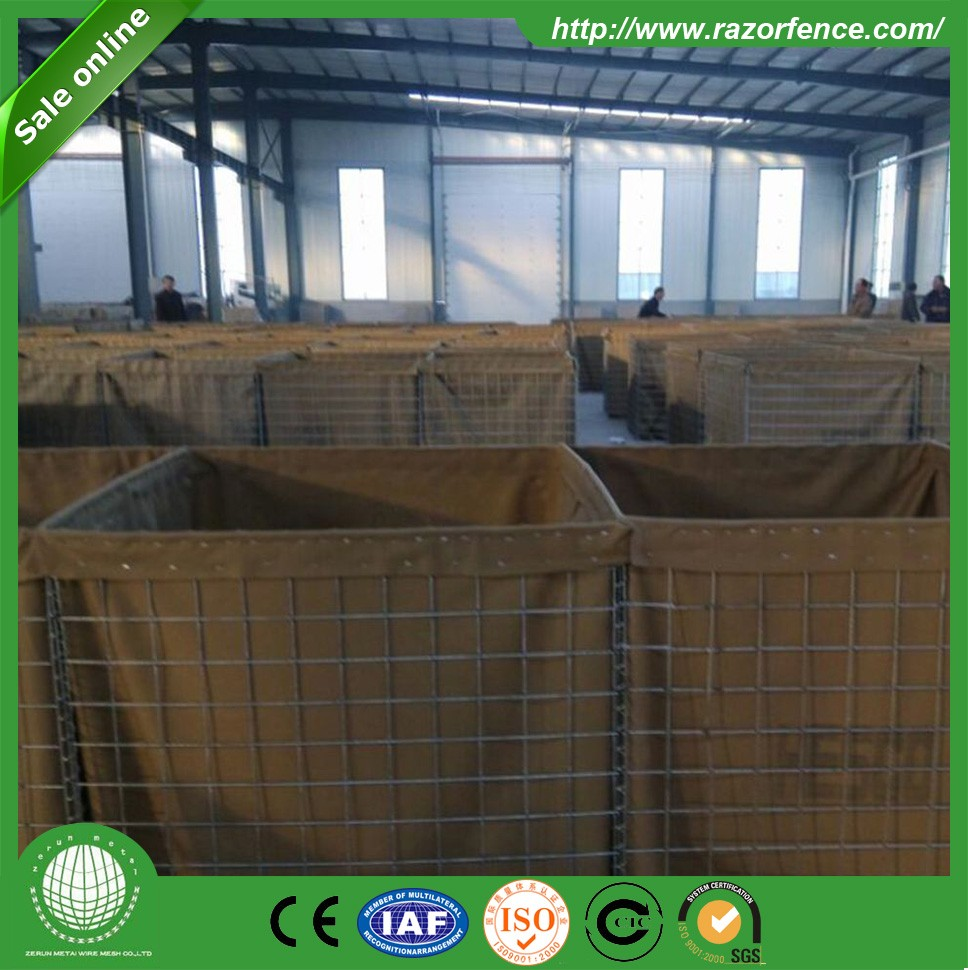 high galvanized hesco defensive barrier/hesco barriers sizes and prices for military-cellular system with geotextile cloth