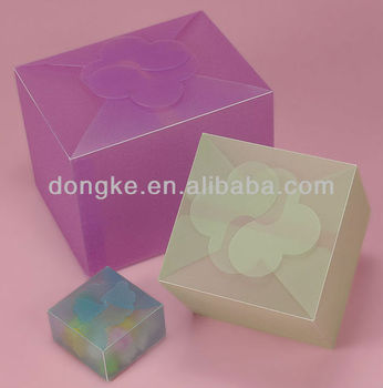 colored frosted flower top plastic boxes with auto-lock