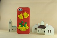 jingle bell snowman sock silicon 3D soft case for iphone5s/5g