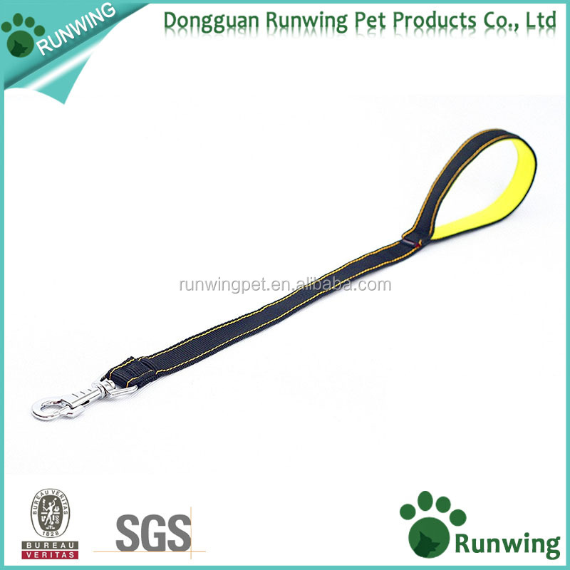 Short Handle Dog Lead 19 Inch, Leash with Neoprene Padded Handle for Dog Training