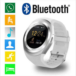 2018 Y1 Bluetooth smart watch QQ WeChat sport watch smart mobile phone watch manufacturers