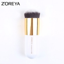New design free sample 1pcs professional synthetic hair customized foundation/blush/powder makeup brush
