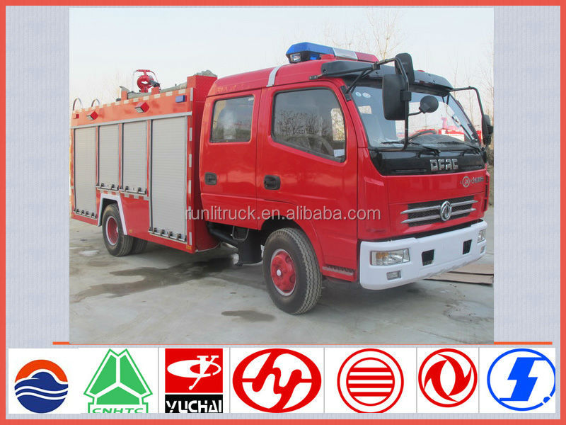 China fire vehicle manufacture direct sale for dongfeng doly card 4*2 4ton airport fire truck sale in india