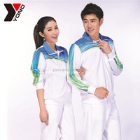 High quality wholesale tracksuit polyester material soccer training tracksuit