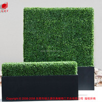 Natural look artificial hedge fence artificial boxwood hedge