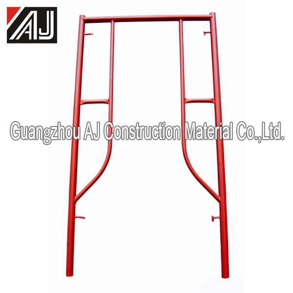 2017 Guangzhou Powder Coated Steel Pin Lock H Frame Scaffolding