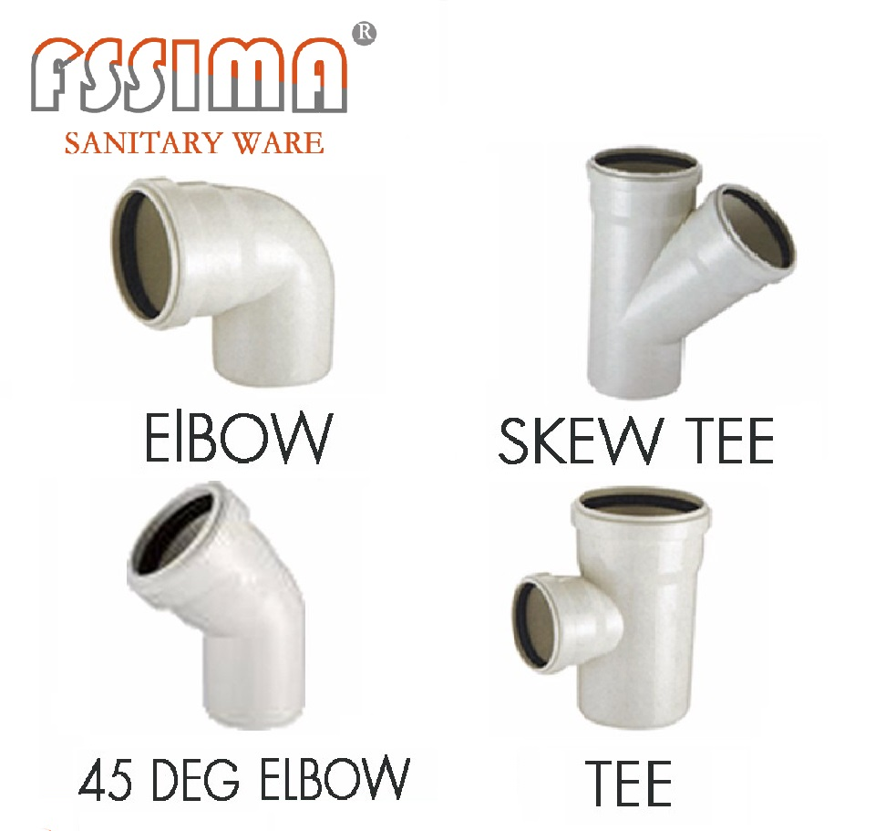 Elbow Tee Cross plastic pipe fitting PVC pipe fitting for sanitary ware