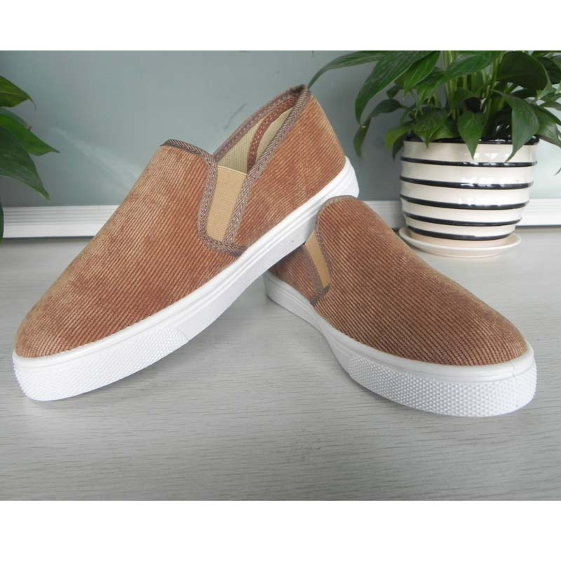 SAA1246 Brown color lady slip on casual shoes with low price