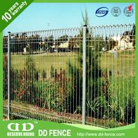 Galvanized Roll Top Mesh Fence / Top Folded Wire Mesh Fence / Cyclone Wire Fence Philippines With Pvc Coated