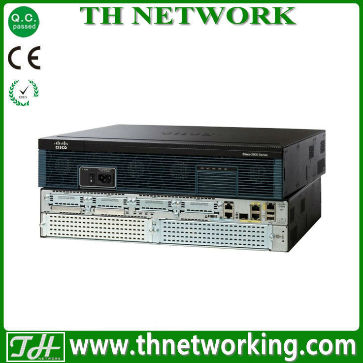 Genuine Cisco 2900 Router C2911-VSEC-SRE/K9 Cisco 2911 SRE Bundle, SRE 300, PVDM3-16, UC, SEC Lic. PAK