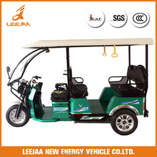 China factory supplier Leejaa tricycle electric e rickshaw for passenger 2017