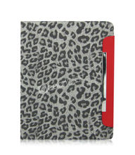 Animal fur design tablet flip leather case for ipad cover case
