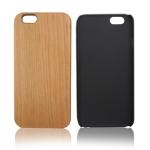 Cherry wooden hard case for iPhone 6, custom logo back cover real wood cell phone shell