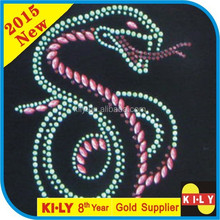Evil snake hot fix rhinestone motif