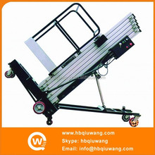 Big wheel aluminum single mast one man telescopic lift