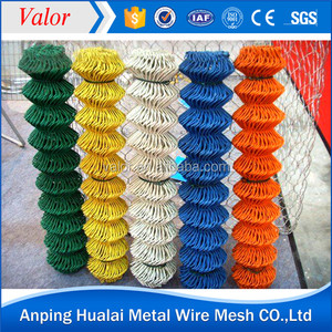 Anping galvanized PVC coated used decorative chain link fence for sale factory