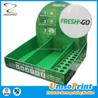 Custom full color printing or one color printed cardboard counter display box small table display stands