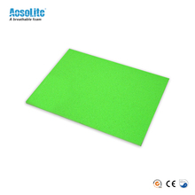 Open cell rigid perforated polyurethane foam sheet for shoes insoles material