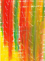 Colorful abstract wall hanging glass painting