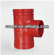 FM ULapproved gi tee reducer pipe fitting standard lateral reducing tee pipe fitting red tee pipe fitting
