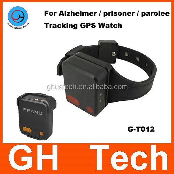 GH Personal watch gps tracker G-T012 Bracelet real time wrist watch gps tracking for Prisoner parolee management