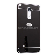 Aluminum Metal Bumper Mirror Hard Back Mobile Phone Case Cover For LG stylus 2