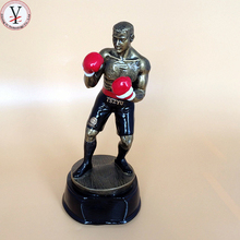 Custom polyresin Boxing figurines for home decoration resin Boxing figurines trophy