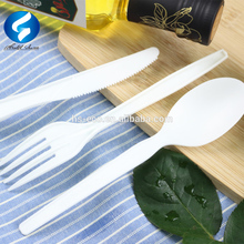 GUARANTEED LOWEST PRICE!High quality eco friendly disposable PLA cutlery 100% biodegradable utensils