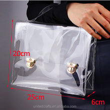 New Fashion PVC Transparent Bag Clear Handbag Tote Shoulder Bag