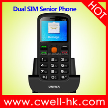 2017 Mobile Phone for Old Age People 1.77 Inch GSM Quad Band Dual SIM SOS Button Senior Phone